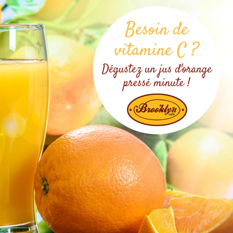 jus orange pressé minute brooklyn café vannes